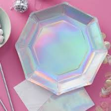 in party supplies iridescent paper party plates new in party supplies leana