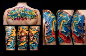 awesome color ink graffiti tattoos designs tattoos pinterest