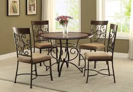 Rod Iron Dining Room Set Dining Room Inspiring Wrought Iron Dining Sets Wrought Iron 4