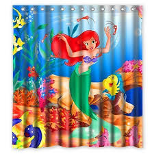 The Little Mermaid Shower Curtain Little Mermaid Shower Curtain Amazon Com
