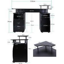 meuble pour ordinateur de bureau bureau informatique pour ordinateur table meuble pc noir achat
