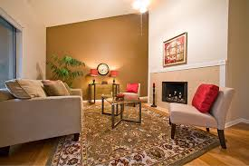 accent walls add drama and warmth living room wallpaper room