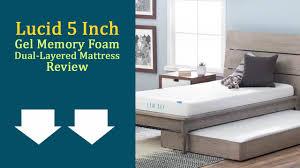 Home Design 5 Zone Memory Foam by Lucid 5 Inch Gel Memory Foam Dual Layered Mattress Review Updated