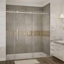 vigo ryland 50 in x 72 in semi framed sliding shower door in