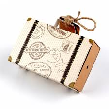 postal wrapping paper europe suitcase candy box wedding favors travel paper gift boxes
