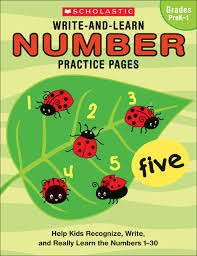 amazon com write and learn number practice pages help kids