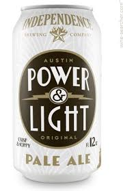 texas power and light company independence brewing company power light pale ale beer texas usa