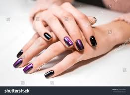 hand on hand nice manicure shellac stock photo 343191044