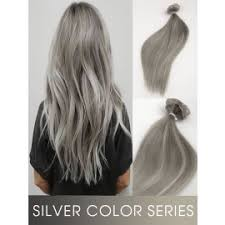 silver hair extensions colorful ombre hair extensions fashion color human hair extensions