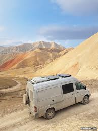 mercedes sprinter camper van vanlife in kyrgyzstan travel in central asia with a campervan