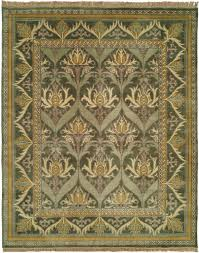 modern hand knotted reproduction craftsman rug meadow mede