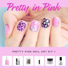 new u2013 pretty in pink nail art kit