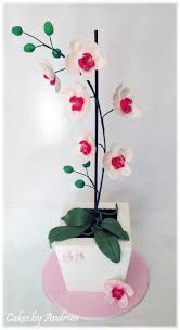 fondant gum paste orchids cake topper orchid cake inspired by