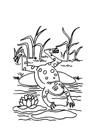 jumping frog coloring pages clipart panda free clipart images