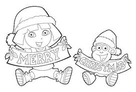 nick jr dora printable coloring pages christmas coloring pages dora dora christmas coloring pages 12