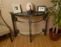 half round console table custom hand forged iron half round console table arc iron with half
