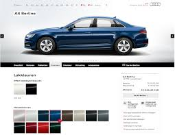audi configurater audi be website combines rich integrated experience with powerful