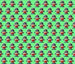 Sock Monkey Fabric So So Sad Sock Monkey Wallpaper Shelleyfaye Spoonflower