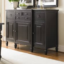 furniture antique black sideboard buffet with three drawers on