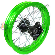 wheels motocross bikes dirt bike pit bike wheel rims green 12mm or 15mm axle 1 85x12 inch