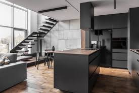 Matte Black Kitchen Cabinets Apartment A Matte Black Kitchen Cabinets And Countertop Near