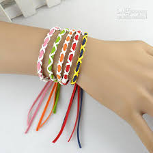 hand made bracelet images Weave leather string friendship bracelets handmade charm strand jpg