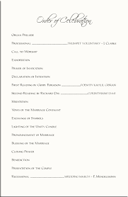 sle of wedding program order of a wedding reception program wedding ideas 2018