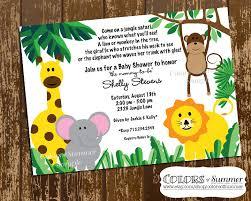 jungle themed baby shower safari baby shower invitation jungle themed baby shower