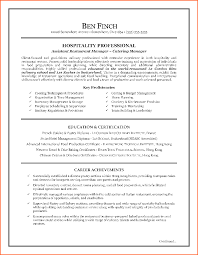 Resume Writing Sample by Resume For Catering Manager Resume For Your Job Application