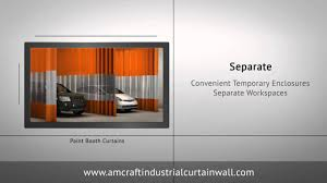 spray booth curtain walls enclosures for paint u0026 dust youtube