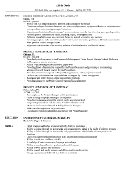 resume format administrative officers exams 4 driving lights project administrative assistant resume sles velvet jobs
