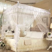 online get cheap canopy bed double aliexpress com alibaba group luxury princess mosquito net four corner post double bed curtain canopies adults mosquito netting bedding klamboe
