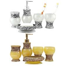 Silver Bathroom Accessories Sets by Aliexpress Com Buy Classic Amber Design Royal Golden Silver Bath