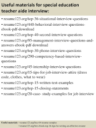 Resume Sample For Teachers by Top 8 Special Education Teacher Aide Resume Samples