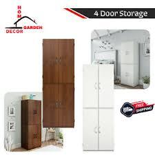 kitchen storage cabinet unit details about 4 door storage cabinet home kitchen pantry office organizer shelf unit