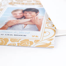 Photo Card Invites Create Your Own Say Hello Foil Gold Personalized Photo Birth