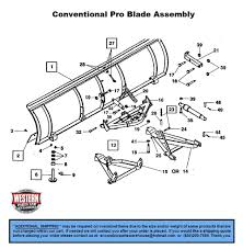 conventional part diagrams western pro plow snowplow parts