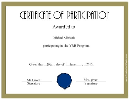 free certificate of participation customize online u0026 print