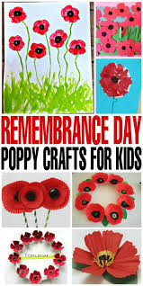 remembrance day poppy crafts for kids frugal mom eh