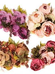 silk flowers for wedding artificial peony bouquet artificial silk flowers home wedding