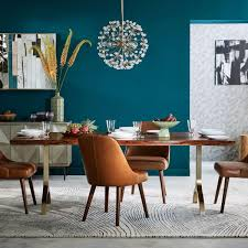 beautiful trestle dining table 5 dining chairs above wood floor