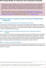 download sample staff meeting records template for free tidyform