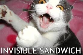 Invisible Cat Memes - invisible sandwich cat macros