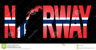 Flag Of Norway Norway With Map On Flag Stock Vector Image Of Flag Text 5717318