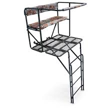 2 Person Deer Blind Plans Guide Gear 2 Person 17 5 U0027 Double Rail Ladder Tree Stand 593030