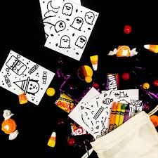 Free Printable Halloween Books by Hello Wonderful Diy Mini Halloween Doodle Books With Free