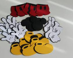 mickey mouse glove etsy