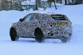 all new 2018 jaguar e pace crossover undergoes winter testing