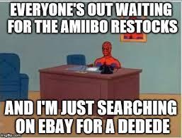 Spiderman Meme Creator - amiibo spiderman imgflip