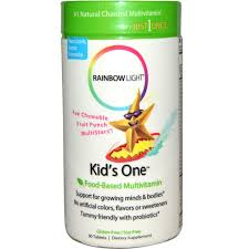 rainbow light kids one rainbow light kid s one multistars food based multivitamin fruit